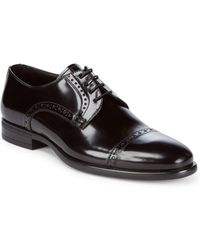 Armani - Cap Toe Patent Leather Shoes - Lyst