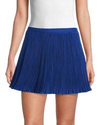 RED Valentino Women's Micro-pleat Mini Skort - Blue - Size 38 (6)