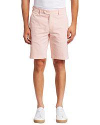 Saks Fifth Avenue Collection Striped Seersucker Shorts - Orange