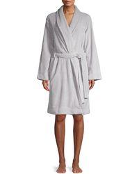 Calvin Klein Logo Fluffy Robe - White