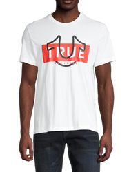True Religion Men's Template Logo T-shirt - White - Size Xl