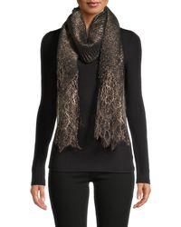 Valentino Lace Wool-blend Shawl - Black