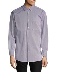 Off-White c/o Virgil Abloh Striped Button-down Shirt - Blue