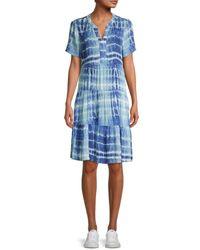 Beach Lunch Lounge Coley Tie-dye Dress - Blue