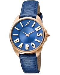 Just Cavalli - Women's Stainless Steel & Leather-strap Watch - Lyst