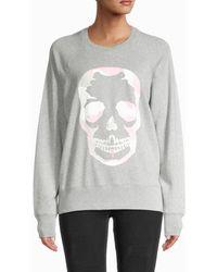 Zadig & Voltaire Women's Camouflage Skull Sweatshirt - Navy - Size S - Blue