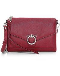 Rebecca Minkoff Jean Mac Leather Crossbody Bag - Red