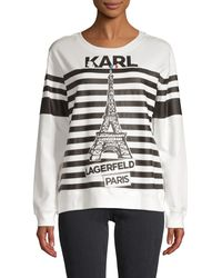 Karl Lagerfeld Striped Cotton-blend Sweatshirt - Multicolour