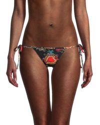 Dolce & Gabbana Women's Graphic String Bikini Bottom - Size 3 (m) - Multicolour