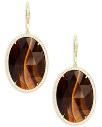 Saks Fifth Avenue | Goldtone Cubic Zirconia Earrings | Lyst