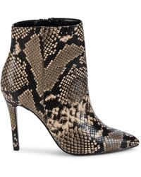 Charles David Women's Dayton Embossed Snakeskin-print Booties - Nude Snake Print - Size 5.5 - Multicolour
