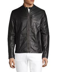 John Varvatos Classic Leather Jacket - Black
