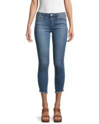 Articles of Society Suzy Step Hem Cropped Jeans - Blue
