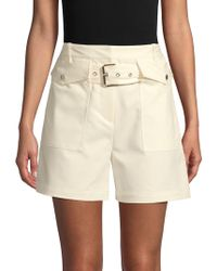 3.1 Phillip Lim Solid Belted Shorts - Natural
