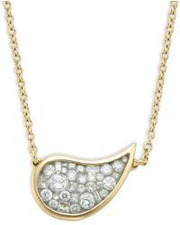 Plevé 18k Yellow Gold & Diamond Pendant Necklace - Metallic