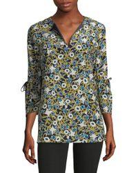 Lafayette 148 New York - Sela Printed Silk Blouse - Lyst
