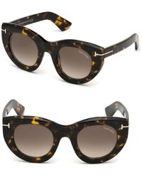 Tom Ford - Marcella 48mm Thick Cat-eye Sunglasses - Lyst