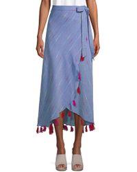 Red Carter - Navya Tassel Chambray Wrap Skirt - Lyst