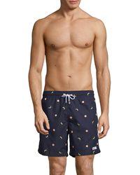 Trunks Surf & Swim Banana & Grapefruit Swim Shorts - Blue