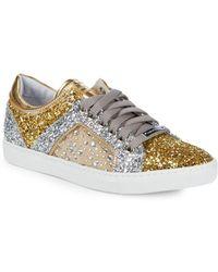 Alessandro Dell'acqua - Metallic Glitter Sneakers - Lyst