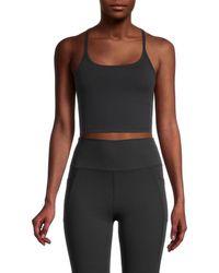 X By Gottex Women's Racerback Sports Bra - Black - Size M