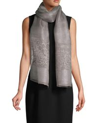Saachi Women's Emma Floral Embroidered Scarf - Grey
