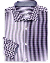 Bugatchi - Long Sleeve Woven Cotton Check Shirt - Lyst