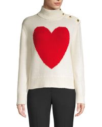 Kate Spade Broome Street Heart Turtleneck Sweater - Multicolour
