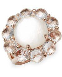 Ippolita - Clear Quartz And 18k Rose Gold Ring - Lyst