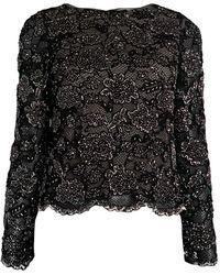 Alice + Olivia Amal Embellished Top - Black