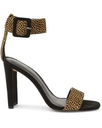 BCBGeneration Women's Winoni Cheetah-print Suede Heeled Sandals - Cheetah - Size 5 - Multicolour