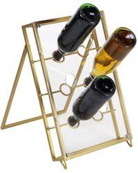 UMA | Raquel Davidowicz Modern Rectangular Wine Holder - Metallic