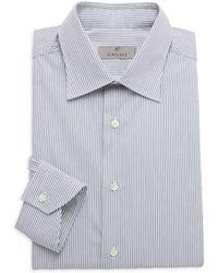 Canali Modern-fit Pinstriped Shirt - Blue