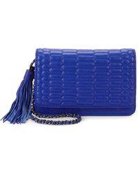 Aimee Kestenberg Medina Leather Crossbody Bag - Blue