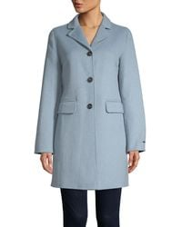 T Tahari Sophia Single-breasted Peacoat - Blue