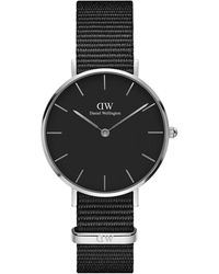 Daniel Wellington Petite Cornwall Stainless Steel & Textile-strap Watch - Black