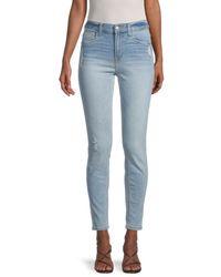 Kensie Women's High-rise Ankle Biter Skinny Jeans - Mari - Size 27 (4) - Blue
