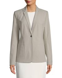 T Tahari Queena Single Button Blazer - Grey