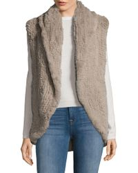 Adrienne Landau - Knitted Dyed Rabbit Fur Vest - Lyst