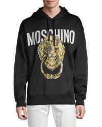 Moschino ! Logo Graphic Hoodie - Black