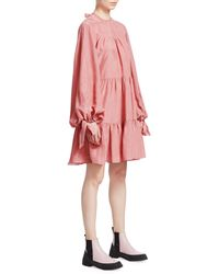 3.1 Phillip Lim Oversized Tiered Gathered Dress - Pink