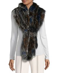 La Fiorentina - Fox Fur Scarf - Lyst