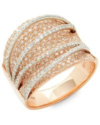 Effy - Pavé Rose Diamond & 14k Gold Midi Ring - Lyst