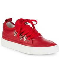Alessandro Dell'acqua - Lace-up Pointed Metallic Sneakers - Lyst