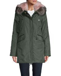 Nicole Benisti Belleville 2-in-1 Fox Fur Parka Coat - Black