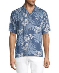 Standard Issue - Printed Button-down Camp Shirt - Lyst