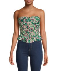 Free People One More Time Tube Top - Blue