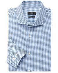 BOSS by HUGO BOSS Mark Sharp-fit Check Dress Shirt - Blue