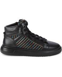Kurt Geiger Jacobs Leather High-top Sneakers - Black