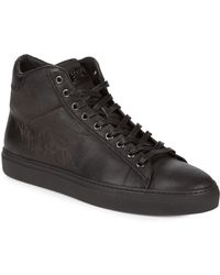 Roberto Cavalli - Leather High-top Sneakers - Lyst